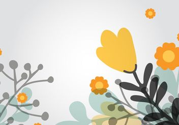 Floral Background Vector - Free vector #154697