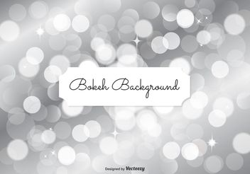 Silver Bokeh Background Illustration - Free vector #154707