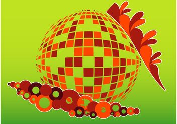 Colorful Disco Design - vector gratuit #154997