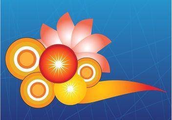Floral Vector Design - Kostenloses vector #155027