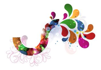 Colorful Decorative Design - vector gratuit #155047