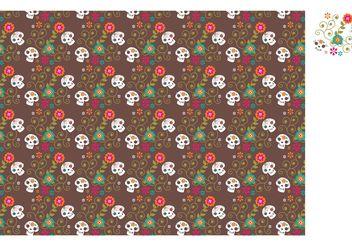 Free Vector Dia De Los Muertos Sugar Skull Pattern - Free vector #155077