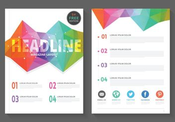 Free Geometric Magazine Layout Vector - бесплатный vector #155087