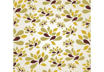 Modern Seamless Floral Background - vector gratuit #155097