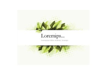 Banner Vector with Greenery - Kostenloses vector #155147