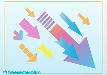 Colorful Arrows - vector gratuit #155297