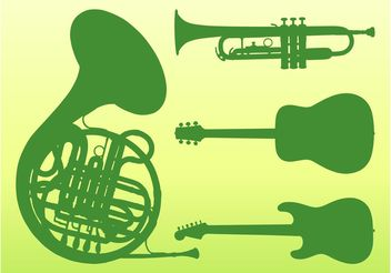 Musical Instruments Vector - Free vector #155417