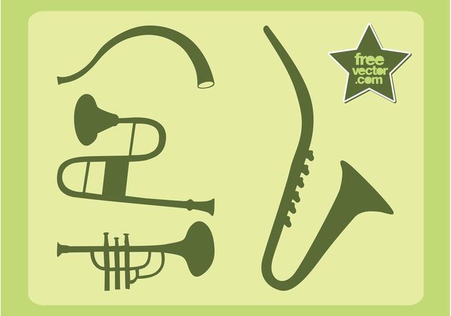 Wind Instruments Vector - Free vector #155437