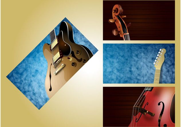 Musical Layouts - vector gratuit #155447