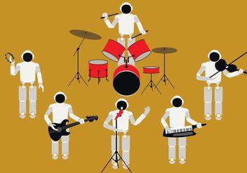 Human Robot Band - Free vector #155457