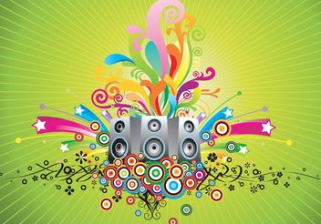 Music Speakers Vector - бесплатный vector #155477