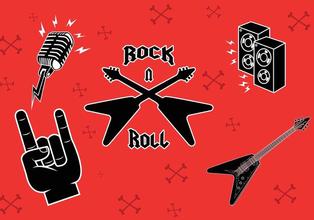 Rock Music Symbols - Free vector #155537