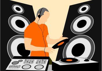 Mixing DJ Graphics - Free vector #155557