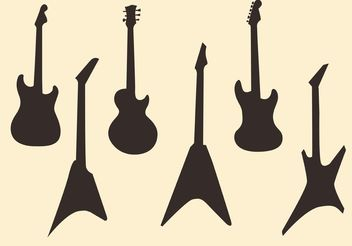 Guitar Vector Silhouettes - Free vector #155567
