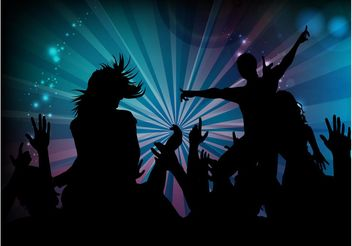 Dance Party Graphics - Free vector #155577