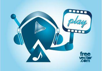 Play Music Vector - бесплатный vector #155617