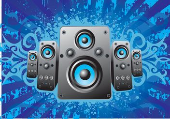 Music Speakers - vector gratuit #155627