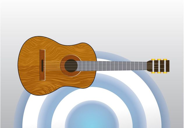 Classical Acoustic Guitar - vector gratuit #155657