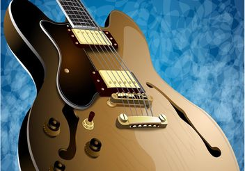 Realistic Guitar - Free vector #155707