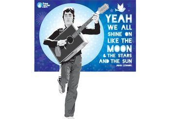 John Lennon Vector Illustration - Free vector #155977