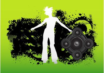 Grunge Dancer - Free vector #156057