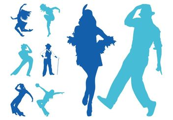 Jazz Dancers Silhouettes - Kostenloses vector #156097