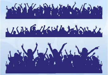 Dancing Crowds - vector gratuit #156107