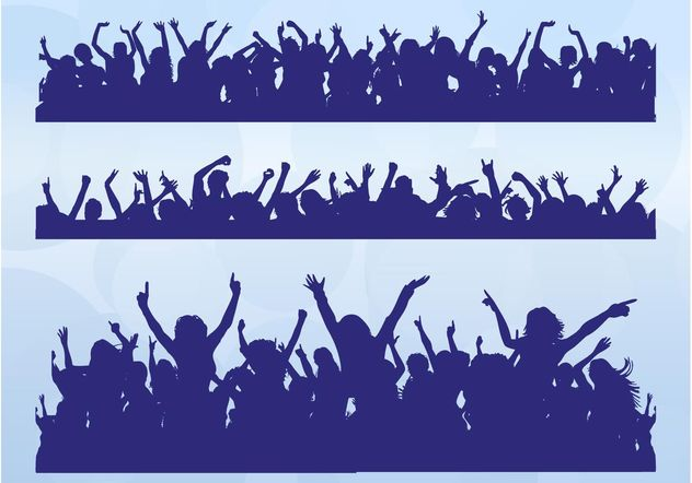 Dancing Crowds - Free vector #156107