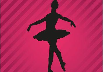 Ballerina Vector Silhouette - Kostenloses vector #156237