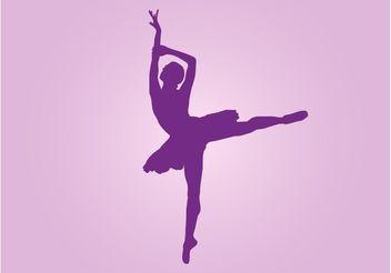 Dancing Ballerina Vector - Kostenloses vector #156307