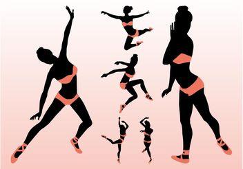 Sexy Vector Ballerinas - Kostenloses vector #156327