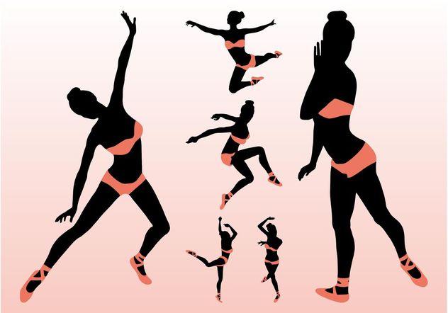 Sexy Vector Ballerinas - Free vector #156327