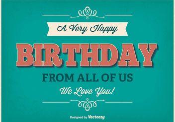 Typographic Birthday Poster - Kostenloses vector #156417