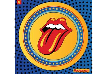 Rolling Stones Lips Logo - Free vector #156537