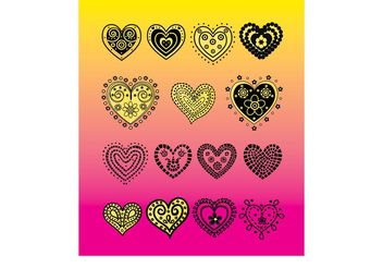 Heart Vector Doodles - Free vector #156547