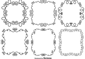Cute Doodle Frames - Free vector #156627