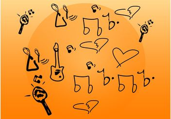 Music Doodles - vector gratuit #156687