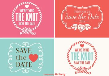 Save the Date Labels - vector gratuit #156887