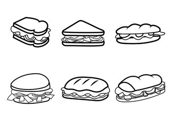 Free Vector Club Sandwiches - vector gratuit #156897