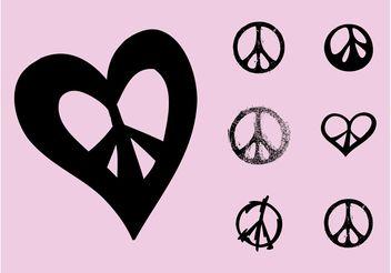 Peace Symbols - Free vector #157057