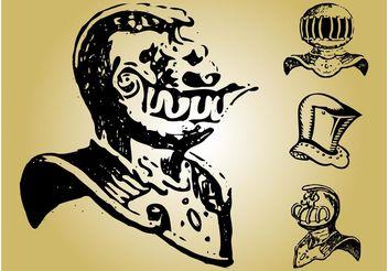 Knight Helmet Images - бесплатный vector #157087