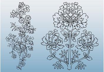 Floral Designs Vector - Free vector #157117