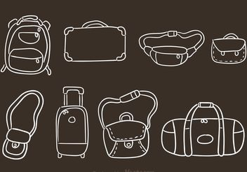Hand Drawn Bag Vectors - Free vector #157217