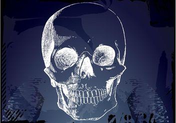Skull Sketch - Free vector #157287