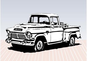 Old Truck Sketch - Free vector #157297
