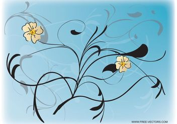 Flower Art - Free vector #157357