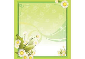 Spring Flower Frame - Kostenloses vector #157367
