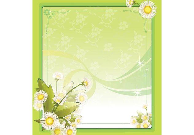 Spring Flower Frame - Free vector #157367