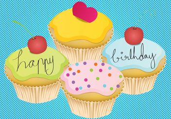 Happy Birthday Card - Free vector #157397