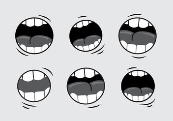 Mouth Talking Vectors - vector gratuit #157557